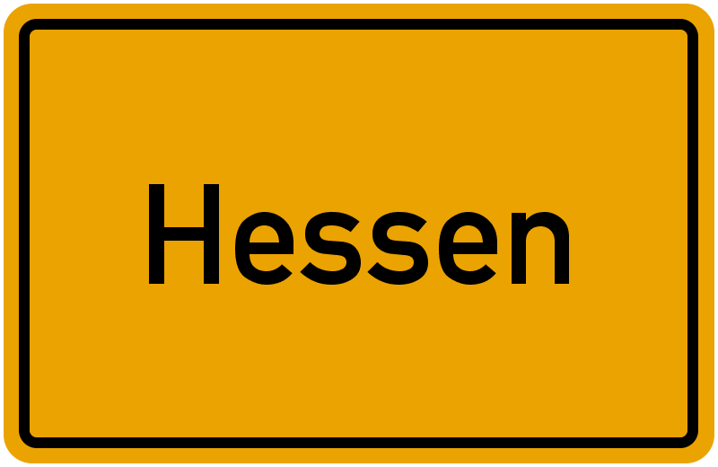 Ortsschild Hessen