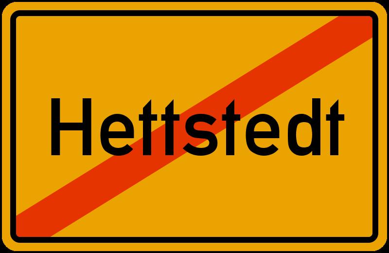 Ortsschild Hettstedt