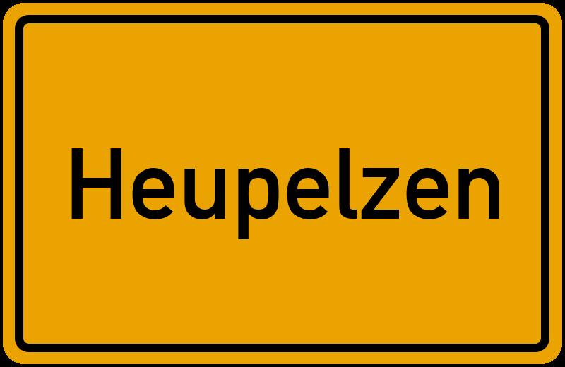 Ortsschild Heupelzen