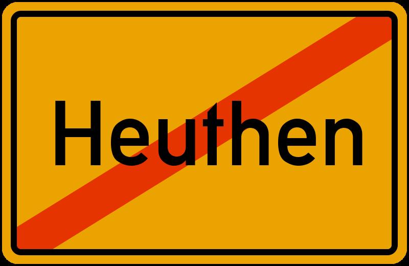 Ortsschild Heuthen