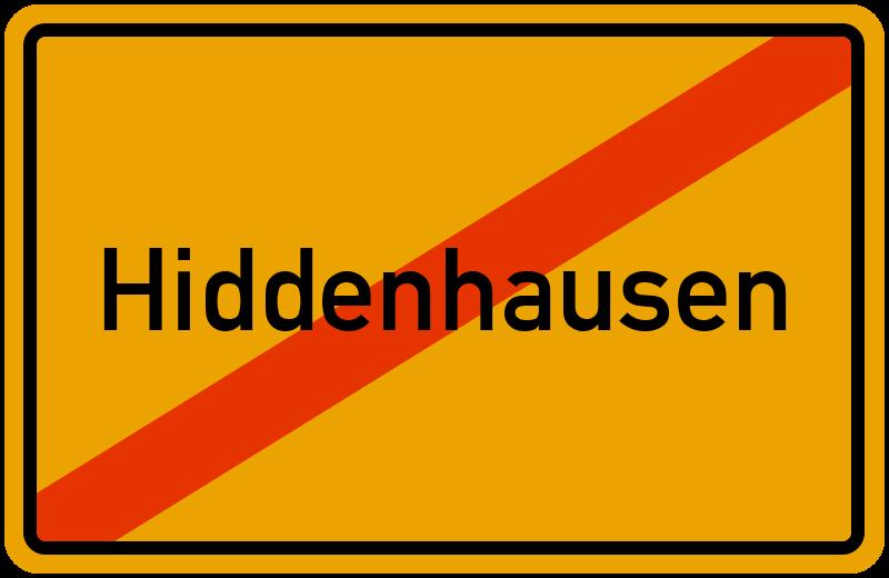 Ortsschild Hiddenhausen