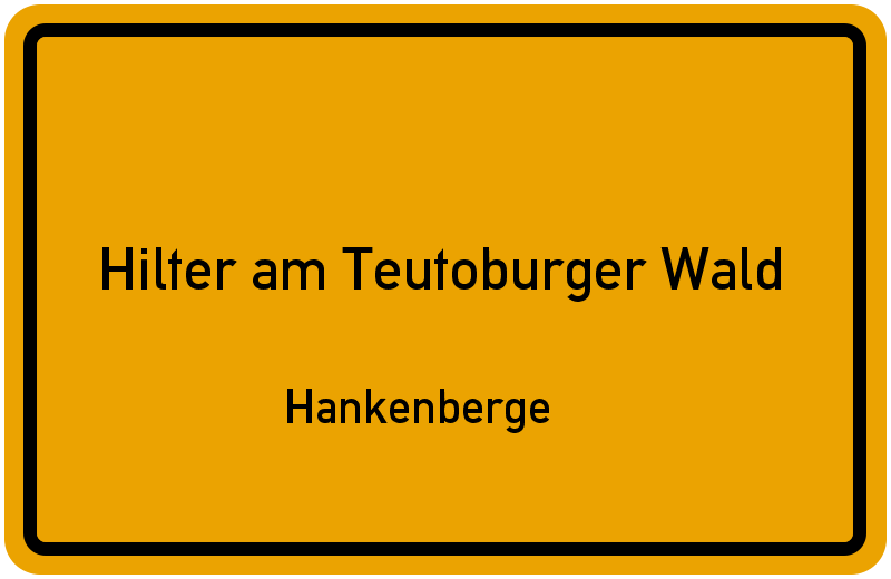 Ortsschild Hilter am Teutoburger Wald
