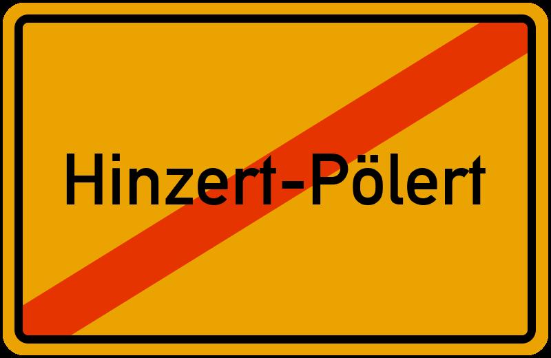 Ortsschild Hinzert-Pölert