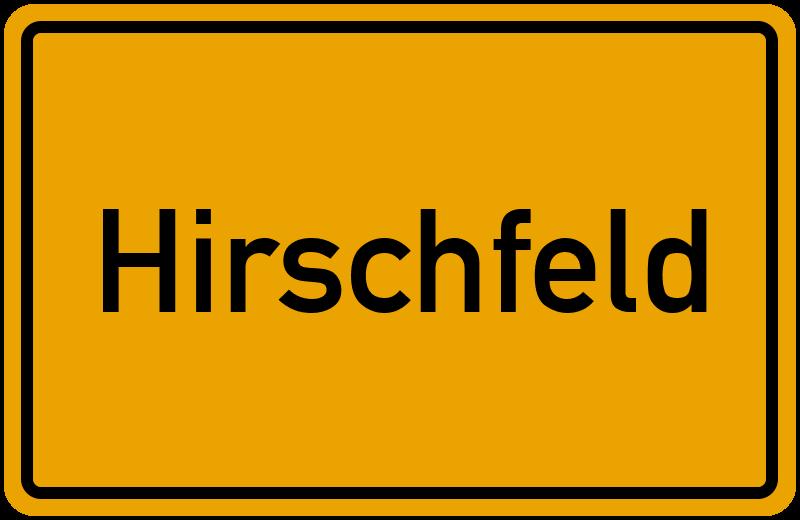 onlinestreet Branchenbuch für Hirschfeld