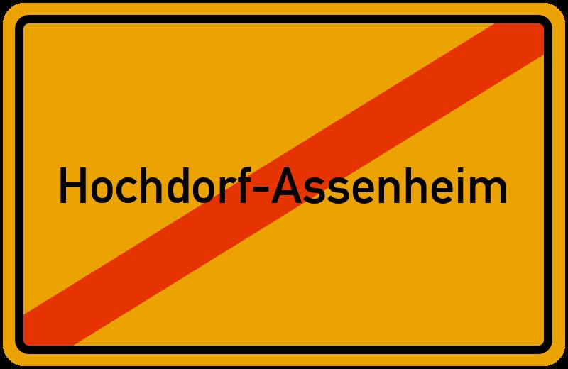 Ortsschild Hochdorf-Assenheim