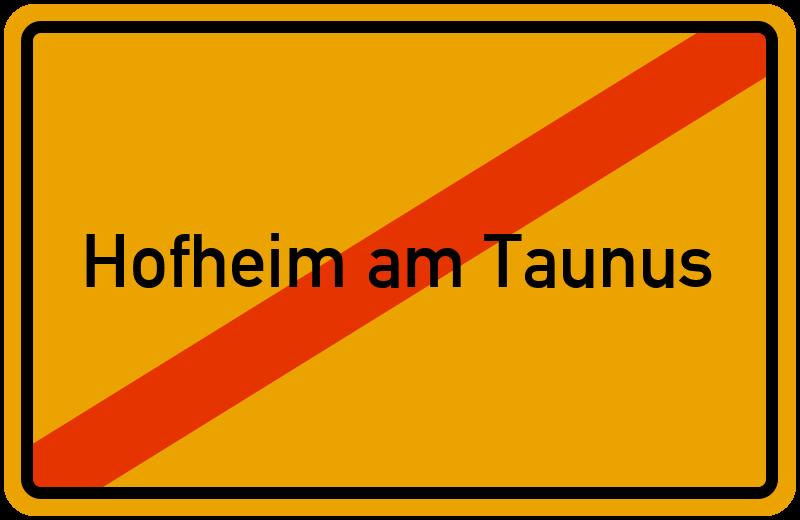 Ortsschild Hofheim am Taunus