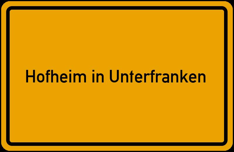 onlinestreet Branchenbuch für Hofheim in Unterfranken