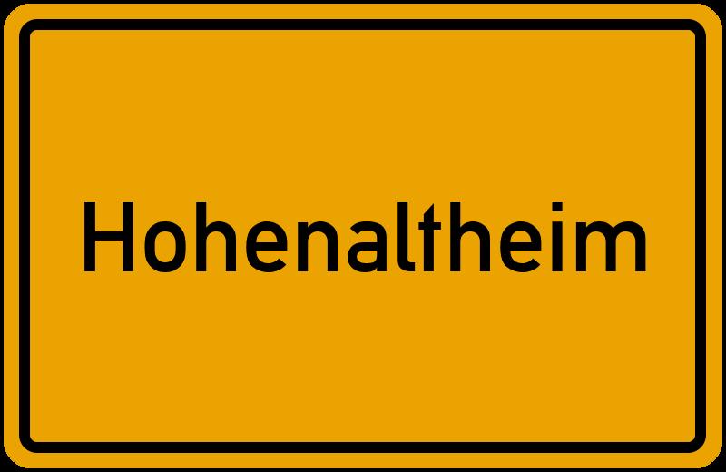 onlinestreet Branchenbuch für Hohenaltheim
