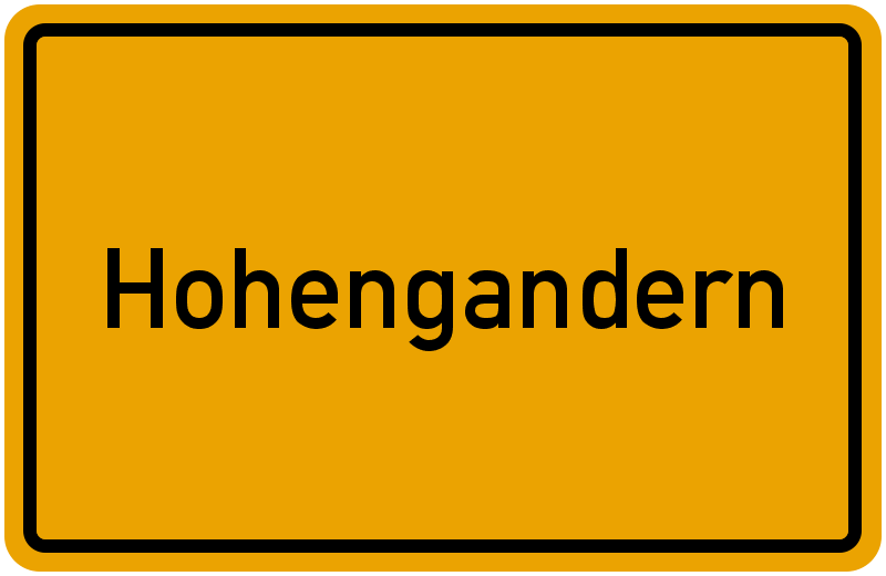 Ortsschild Hohengandern