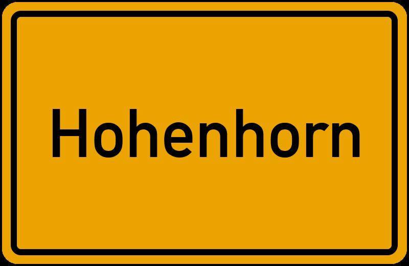 onlinestreet Branchenbuch für Hohenhorn