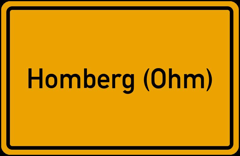 Ortsschild Homberg (Ohm)