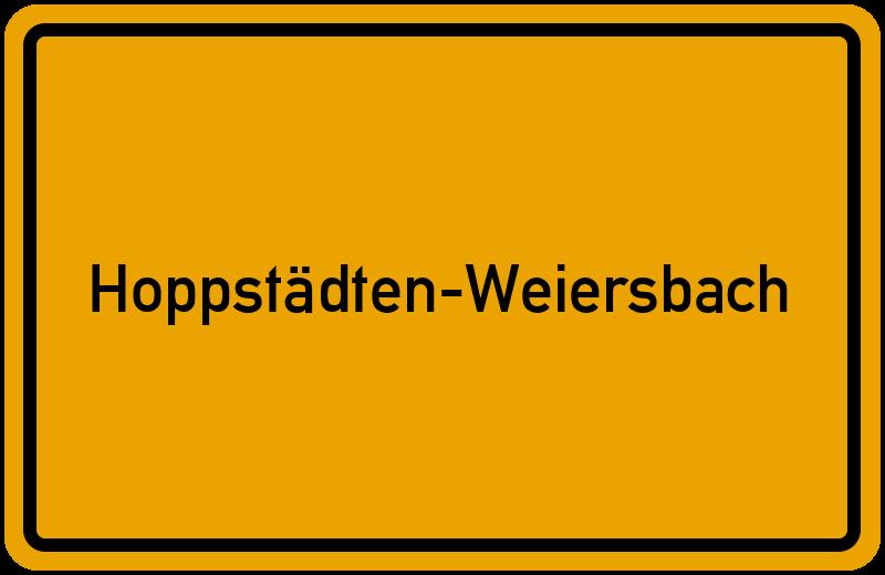 Ortsschild Hoppstädten-Weiersbach