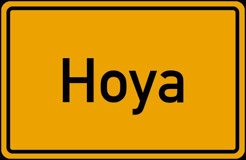 Ortsschild Hoya