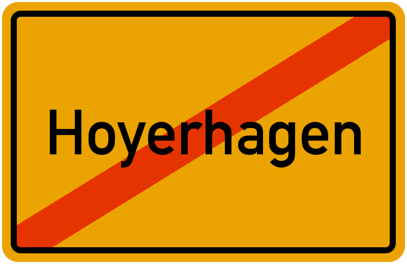Ortsschild Hoyerhagen