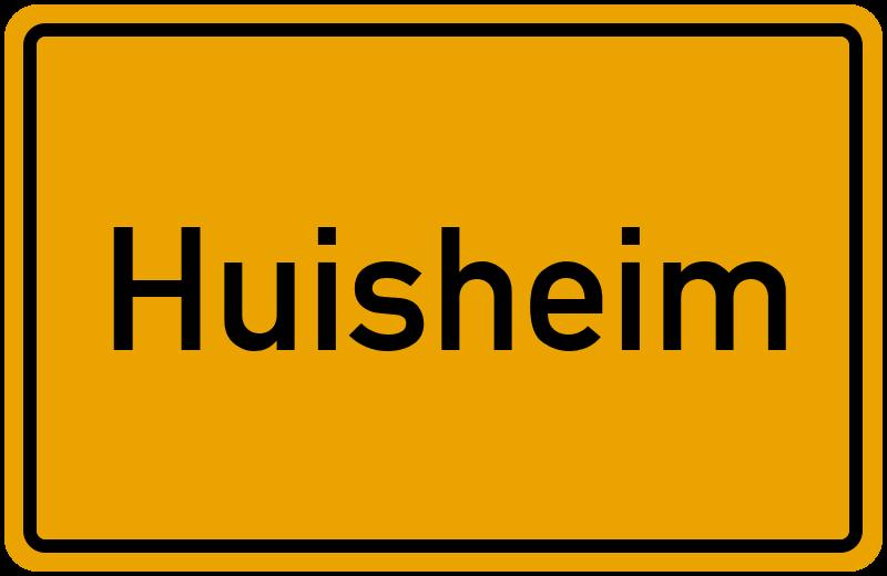 Ortsschild Huisheim