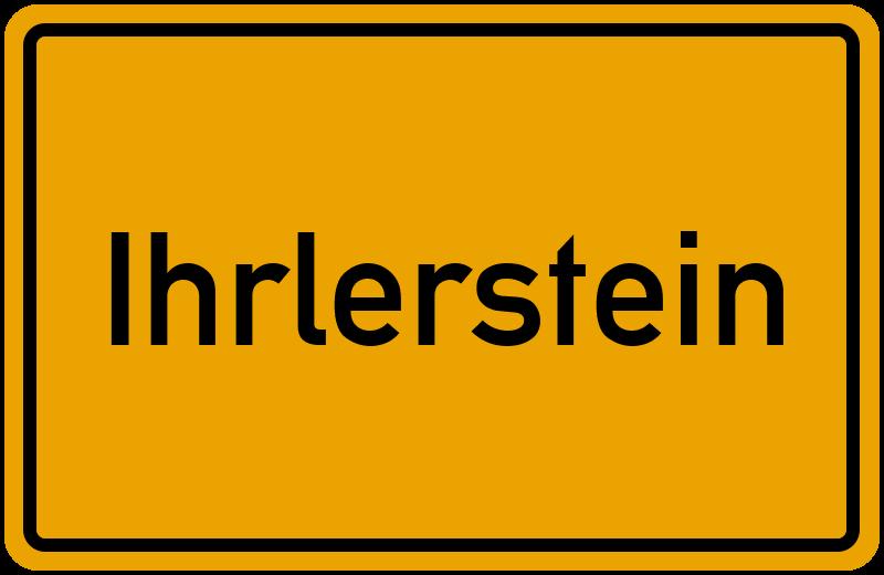 Ortsschild Ihrlerstein