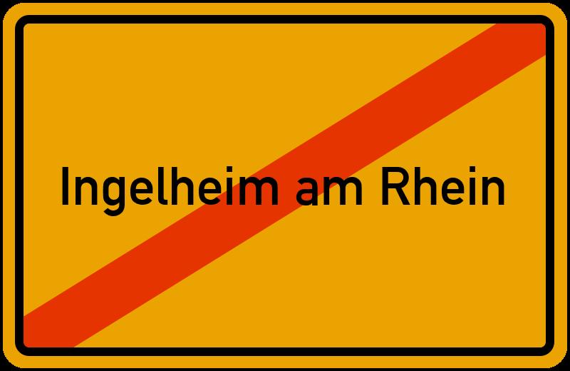 Ortsschild Ingelheim am Rhein