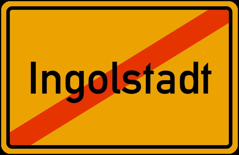 Ortsschild Ingolstadt