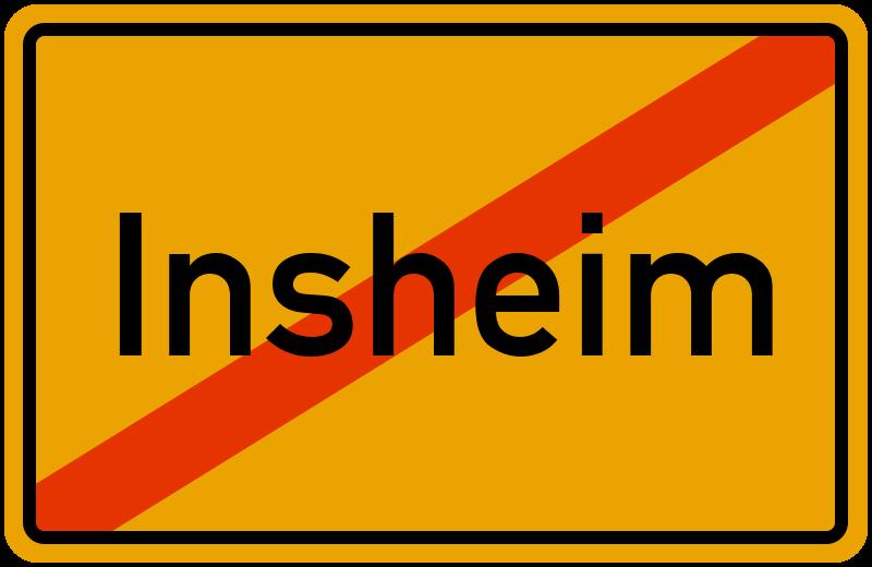 Ortsschild Insheim