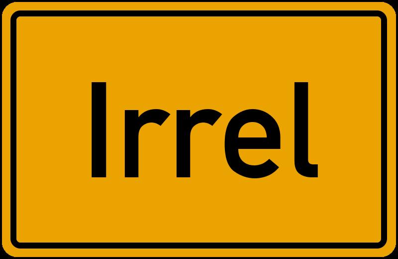 Ortsschild Irrel