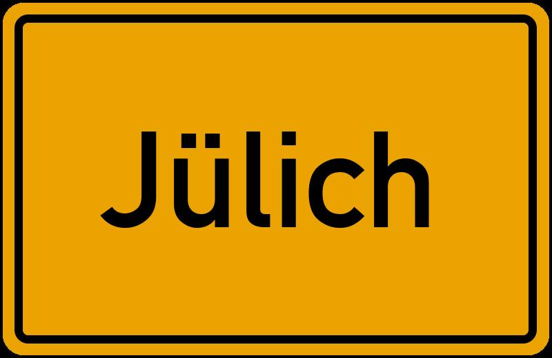 Ortsschild Jülich