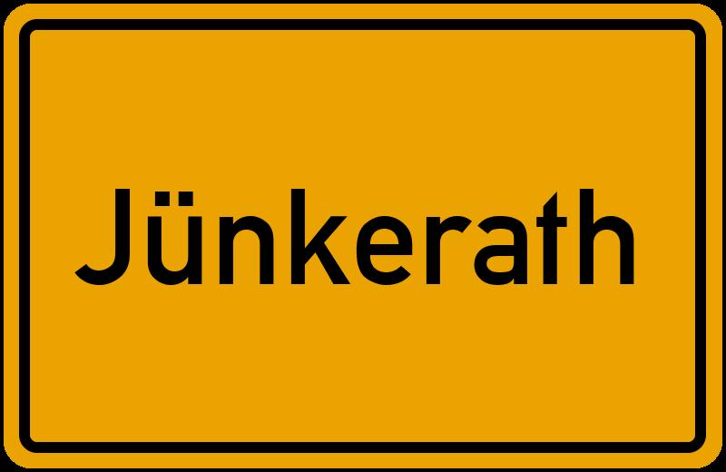 Ortsschild Jünkerath