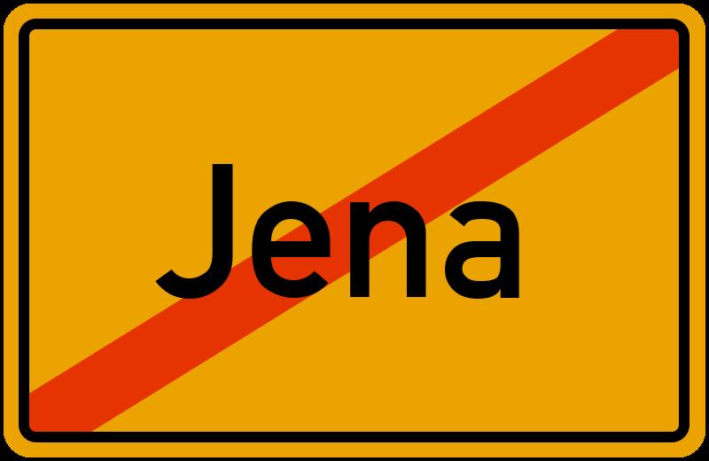 Ortsschild Jena