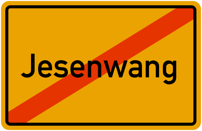 Ortsschild Jesenwang