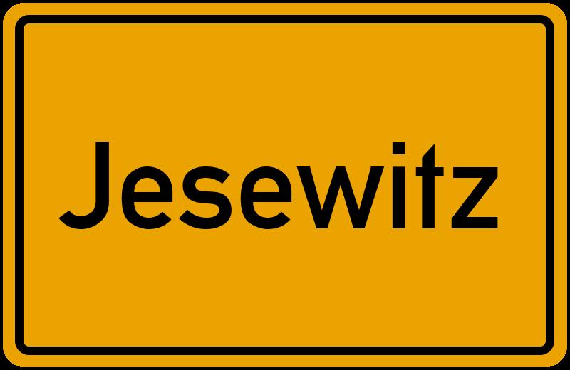 Ortsschild Jesewitz