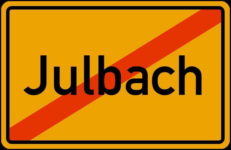 Ortsschild Julbach