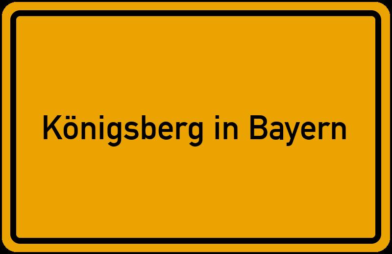 onlinestreet Branchenbuch für Königsberg in Bayern