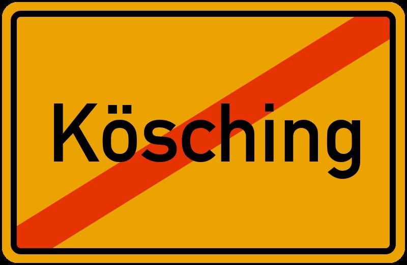 Ortsschild Kösching