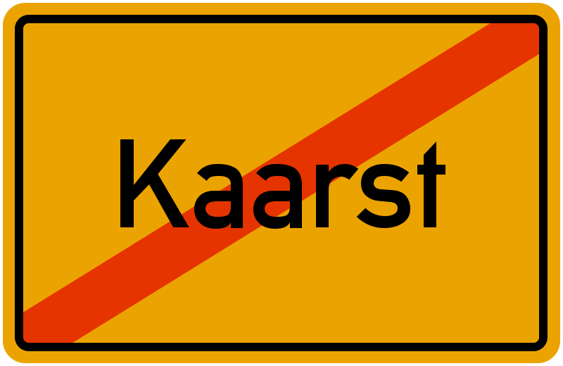 Ortsschild Kaarst