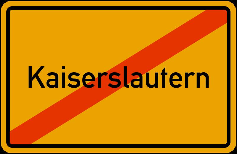Ortsschild Kaiserslautern