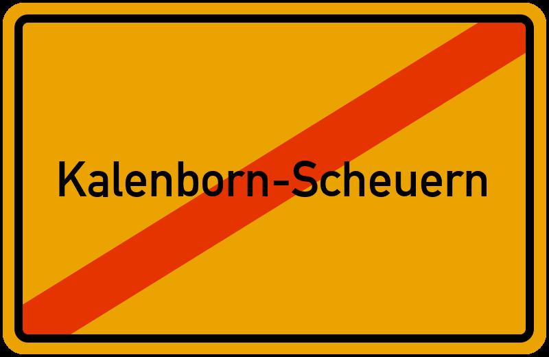 Ortsschild Kalenborn-Scheuern