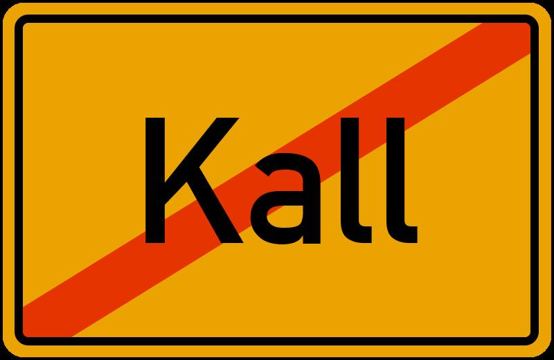 Ortsschild Kall