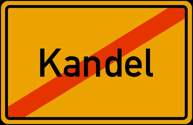 Ortsschild Kandel