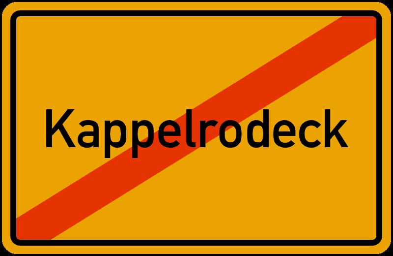 Ortsschild Kappelrodeck