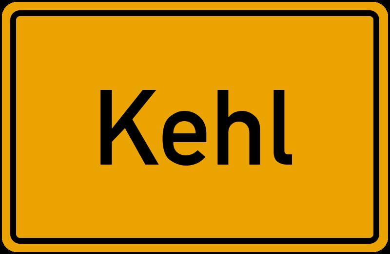 Ortsschild Kehl