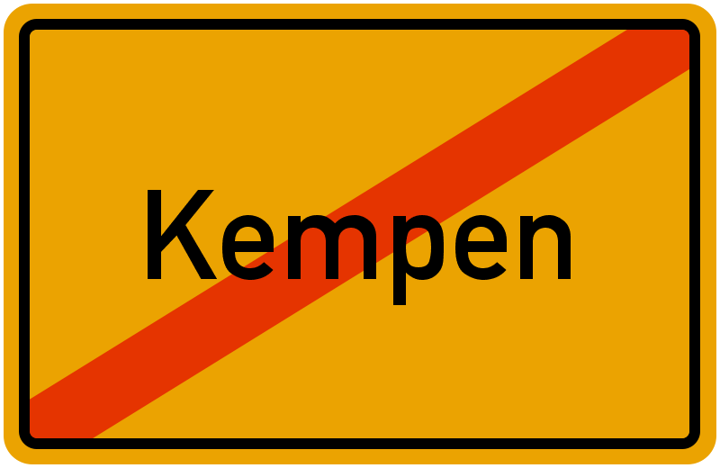 Ortsschild Kempen