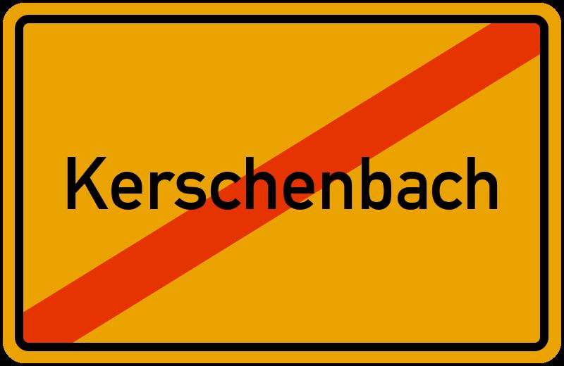 Ortsschild Kerschenbach
