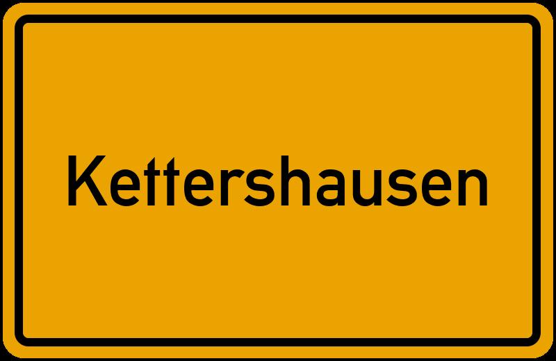 Ortsschild Kettershausen