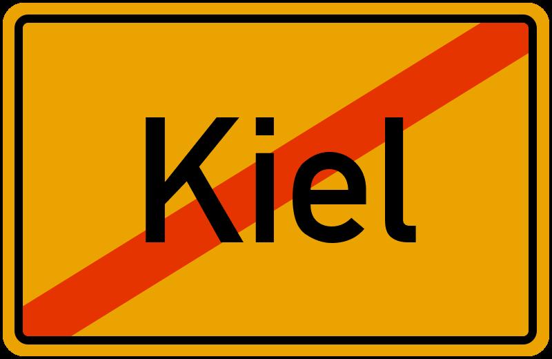 Ortsschild Kiel