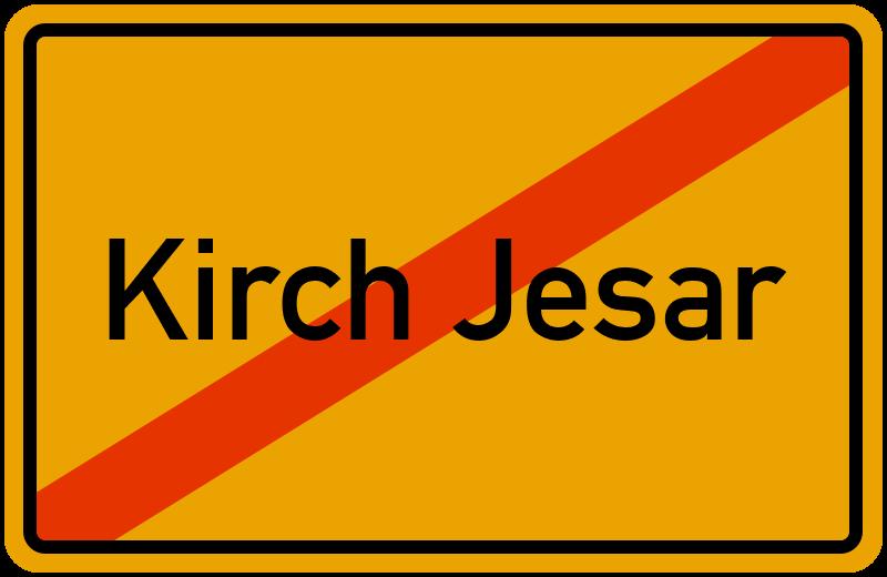 Ortsschild Kirch Jesar