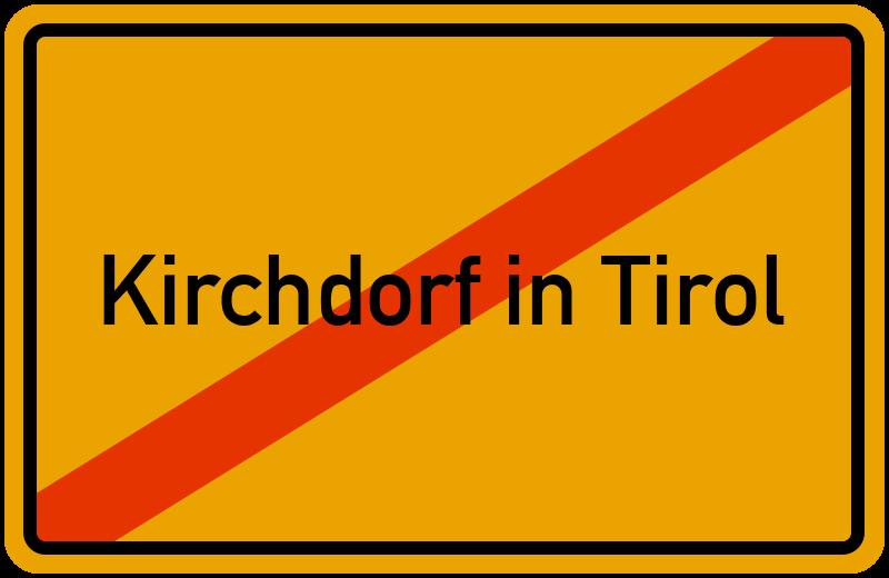 Ortsschild Kirchdorf in Tirol