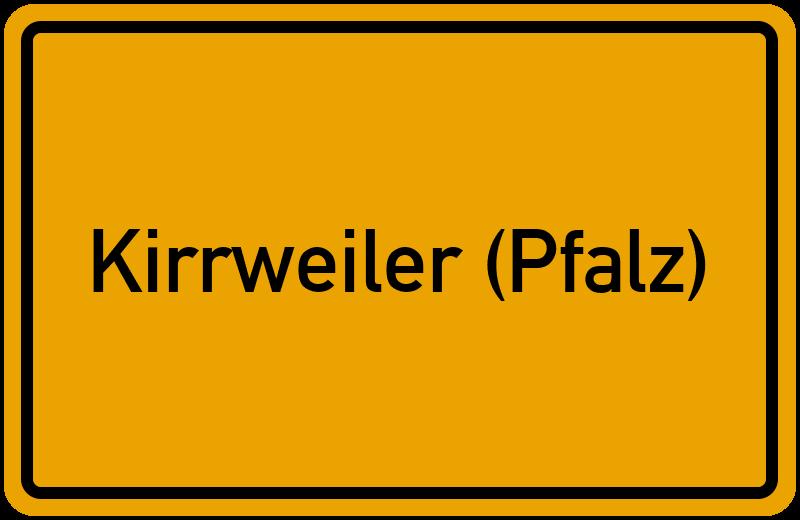Ortsschild Kirrweiler (Pfalz)