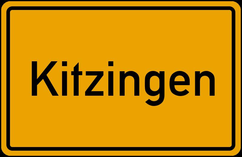 Ortsschild Kitzingen