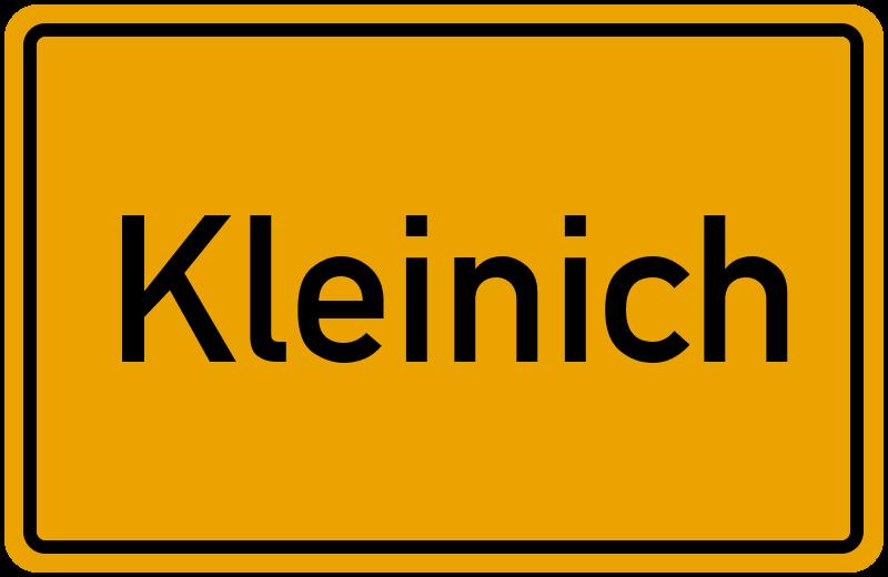 Ortsschild Kleinich