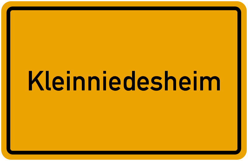 Ortsschild Kleinniedesheim