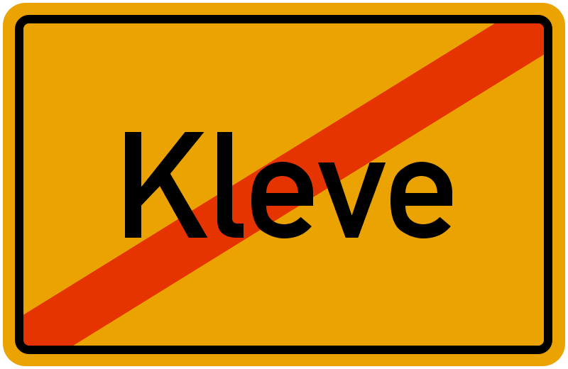 Ortsschild Kleve